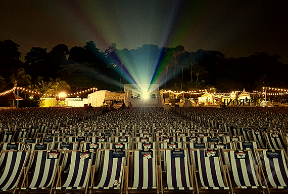 Sunset Cinema, Tanjong Beach, Sentosa Island