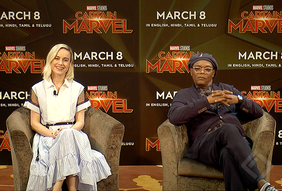 Samuel L. Jackson, Brie Larson, Captain Mavel Digital Press Conference
