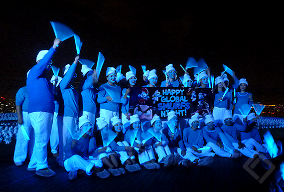 Global Smurf Night, Effect lights Production