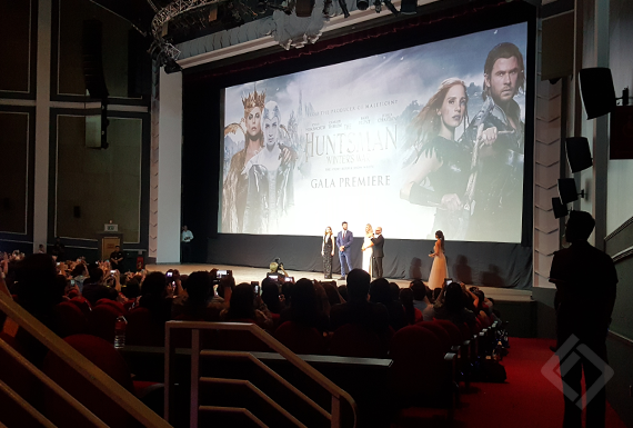 Huntsman Winter War, Movie Premiere Singapore, RWS USS