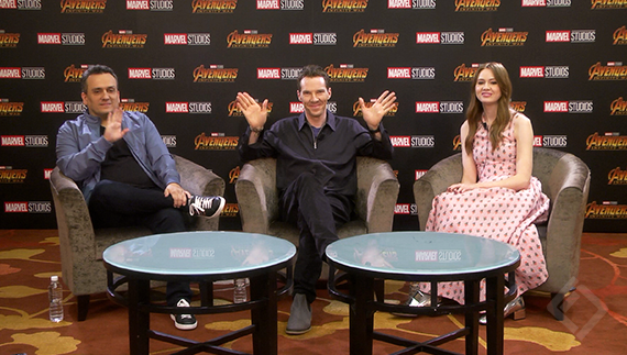 Joe, Karen, Benedict Avengers Infinity War Digital Press Conference