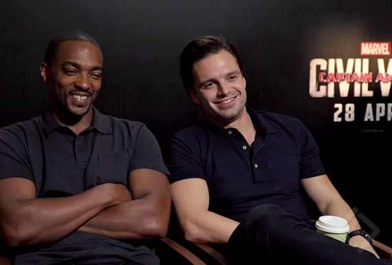 Anthony Mackie, Sebastian Stan, Captain America Civil War