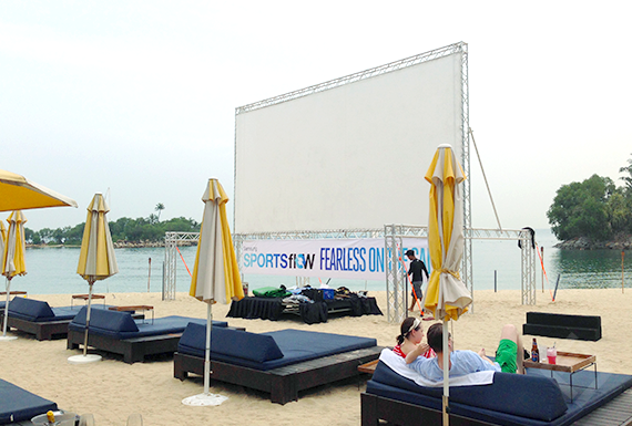 10m x 5m Screen on truss, Tanjong Beach Club