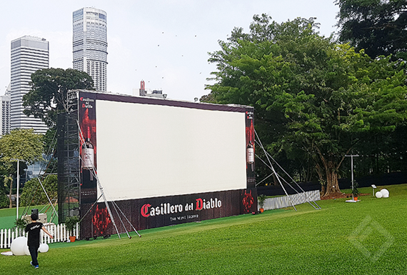 16m x 8m Screen, Fort Canning Green Npark