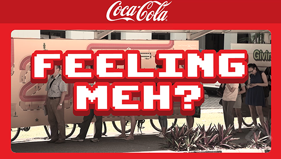 Clear Channel Audience Reaction, Coca Cola Bus Stop Campaign